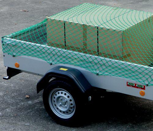 Knotenloses Schutznetz aus Polypropylen hochfest mit fester Abschlusskante. Abdecknetz für Anhänger