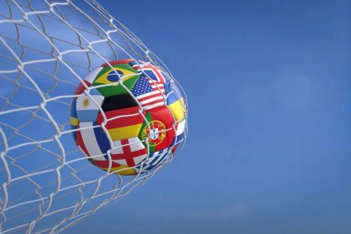 Ballfangnetz für Fußbälle