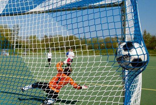 Fußballtornetze 2farbig Vereinsfarben