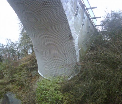 Brückensicherung Schutznetz