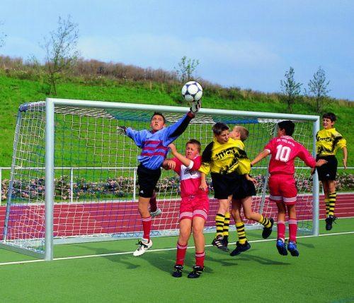 Jugend-Fußballtornetze 2farbig